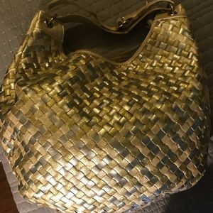 Sondra Roberts Gold/Silver interwoven Shoulder Bag